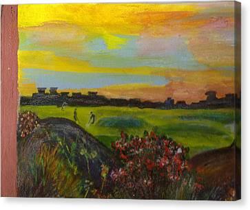 Imaginary Golf Course Canvas Print by Anne-Elizabeth Whiteway