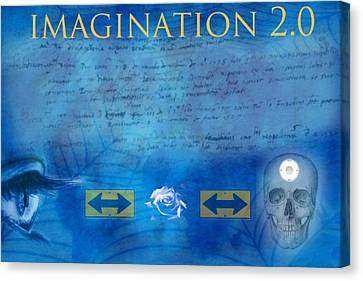 Imagination 2.0 Canvas Print by Diskrid Art