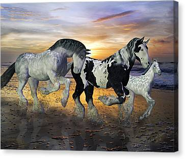 Imagination On The Run Canvas Print by Betsy Knapp