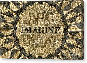 Imagine - John Lennon Canvas Print by Lee Dos Santos