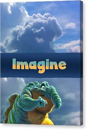 Imagine Canvas Print by Aaron Blaise