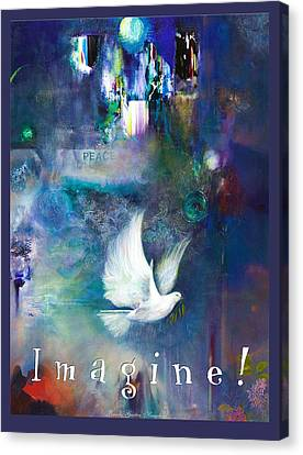 Canvas Print featuring the painting Imagine 4 Kids by Brooks Garten Hauschild