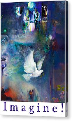 Canvas Print featuring the painting Imagine - With White Border And Title by Brooks Garten Hauschild