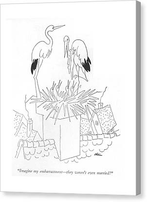 Stork Canvas Print - Imagine My Embarrassment - They Weren't Even by  Alain