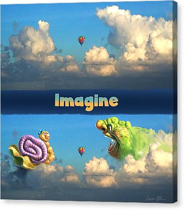 Imagine Snail And Ogre Canvas Print by Aaron Blaise