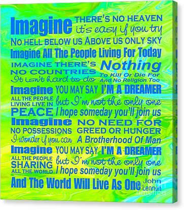 Imagine Song Lyrics - Landform Canvas Print