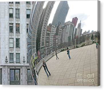 Imaging Chicago Canvas Print by Ann Horn