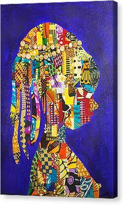 Canvas Print featuring the tapestry - textile Imani by Apanaki Temitayo M