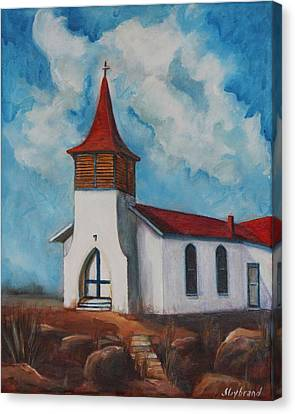 Immaculate Conception Catholic Church Of Cimarron New Mexico Canvas Print by Judy Lybrand