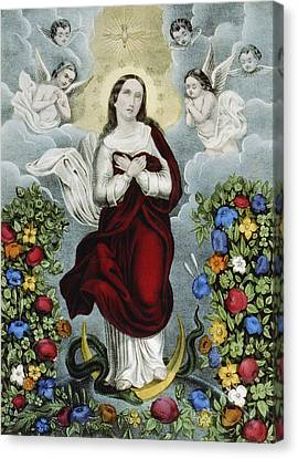 Immaculate Conception Circa 1856  Canvas Print by Aged Pixel