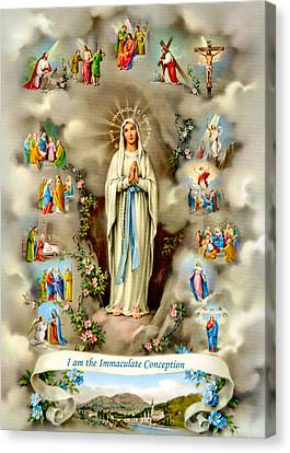 Immaculate Conception Canvas Print by Munir Alawi