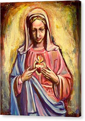 Immaculate Heart Canvas Print by Sheila Diemert