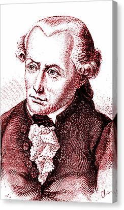 Immanuel Kant Canvas Print by Collection Abecasis