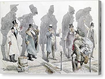 Immigration Cartoon, 1893 Canvas Print by Granger