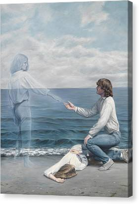 Spiritual Being Canvas Print - Immortality by Lucie Bilodeau