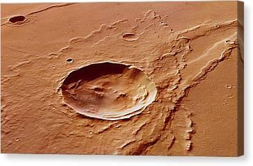 Impact Crater Canvas Print by European Space Agency/dlr/fu Berlin (g. Neukum)