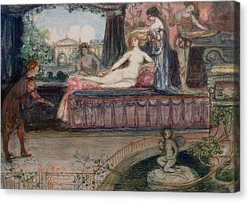 Balzac Canvas Print - Imperia La Belle by Charles Edward Conder