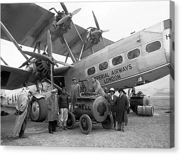 Imperial Airways Aeroplane, 1931 Canvas Print by Science Photo Library