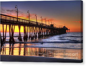 Imperial Beach Pier Canvas Print by Eddie Yerkish