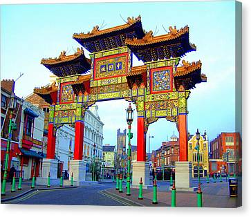 Imperial Chinese Arch Liverpool Uk Canvas Print