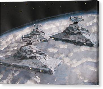 Imperial Star Ship Destroyers Canvas Print