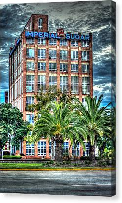Imperial Sugar Factory Daytime Hdr Canvas Print