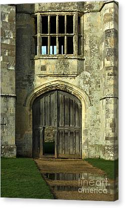 Imposing Front Door Of Titchfield Abbey Canvas Print by Terri Waters