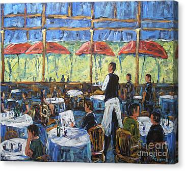 Impresionnist Cafe By Prankearts Canvas Print by Richard T Pranke