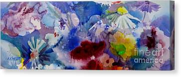 Impression Of  Flowers Canvas Print by Donna Acheson-Juillet