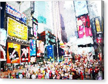 Impression Of Times Square Canvas Print