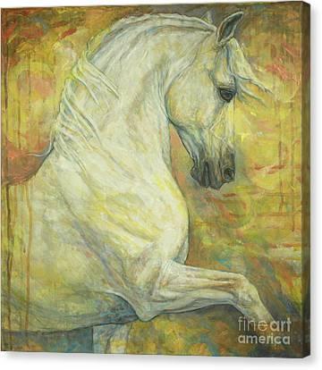 Dressage Canvas Print - Impression by Silvana Gabudean Dobre