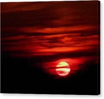 Impression Sunset Canvas Print