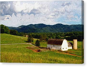 Impressionist Farming Canvas Print by John Haldane