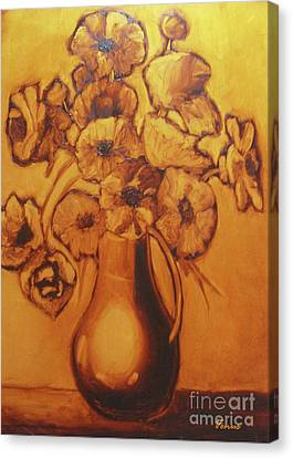 Impressionist Flowers Canvas Print by Venus