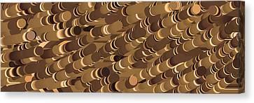 Impressionist Golden Rising Sand Castle Show Pattern Art 36x12 Horizontal Landscape Energy Graphics  Canvas Print by Navin Joshi