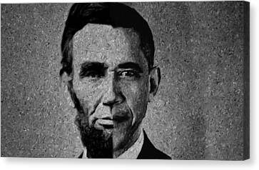 Impressionist Interpretation Of Lincoln Becoming Obama Canvas Print by Doc Braham