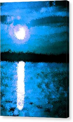 Impressionist Moonlight Canvas Print