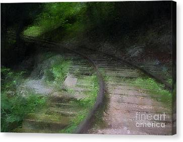 Impressionist Rail Tracks Canvas Print by Doc Braham