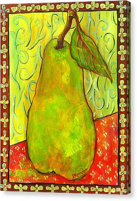 Impressionist Style Pear Canvas Print by Blenda Studio