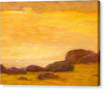 Impressionist Sunset Canvas Print