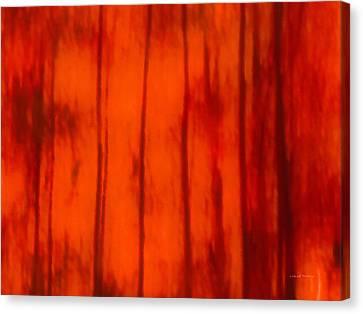 Impressionistic Autumn 4 Canvas Print by Leland D Howard