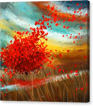 Impressionistic Beauty- Autumn Impressionist Canvas Print by Lourry Legarde