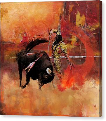 Impressionistic Bullfighting Canvas Print by Corporate Art Task Force