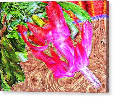 Impressionistic  Easter Cactus Blossom  Canvas Print