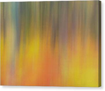 Impressionistic Forest Light Canvas Print by Leland D Howard