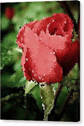 Dappled Light Canvas Print - Impressionistic Rose by Chris Berry