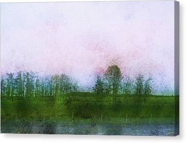 Impressionistic Style Of Trees Canvas Print by Roberta Murray