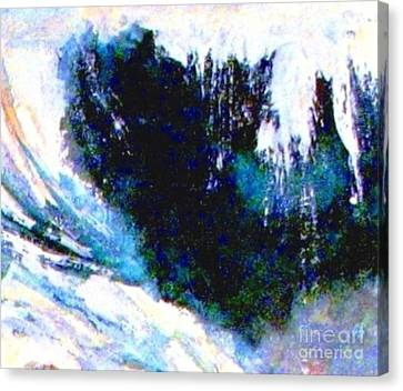 Impressionistic Waterfall Canvas Print by Hazel Holland