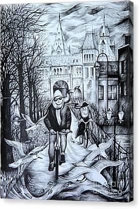 Impressions Of Amsterdam Canvas Print by Anna  Duyunova