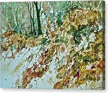 Impressions Of Spring Canvas Print by Carolyn Rosenberger